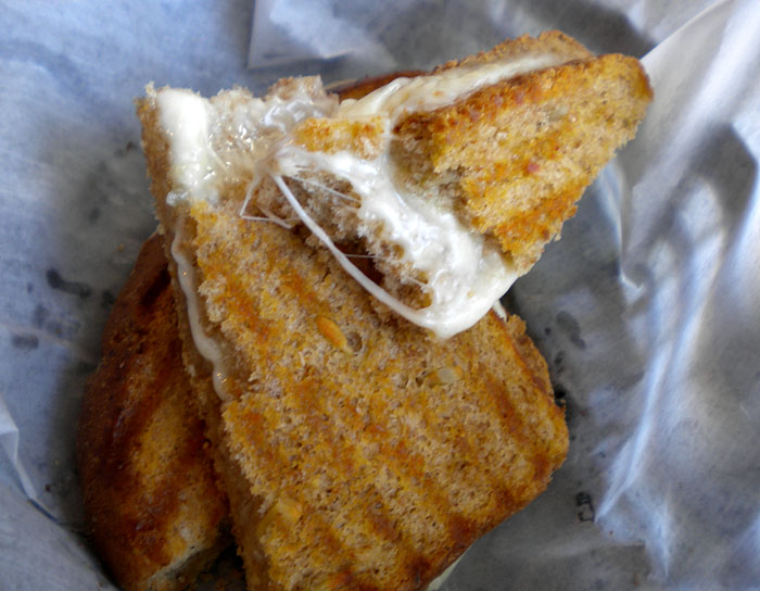 Grilled provolone sandwich on multigrain bread, Squeak Soda Shop, Colorado Springs
