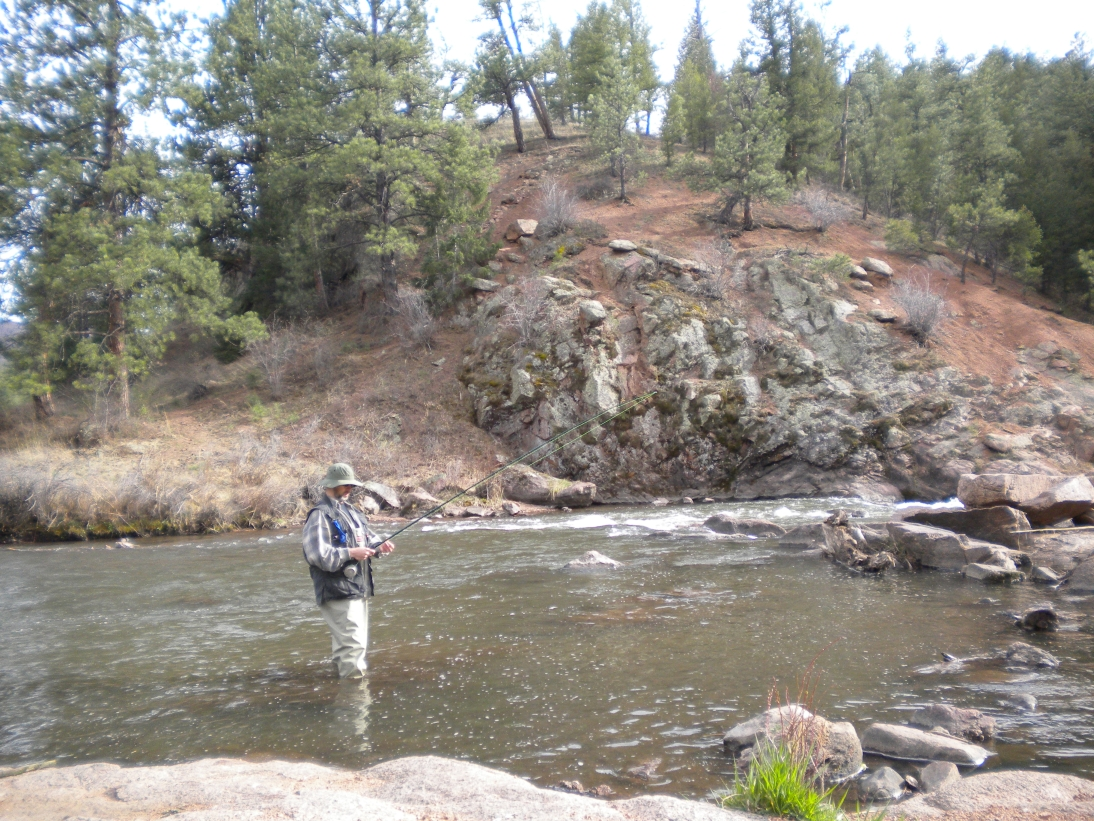 Fly fishing, Deckers, Colorado