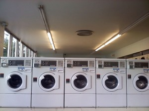 Camera phone picture of laundromat, Colorado Springs
