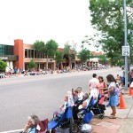 Crowd gathered for the Rodeo Parade, Colorado Springs