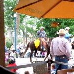 Watching the rodeo parade from Jose Muldoon's, Colorado Springs