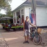 Biking to Shuga's, Colorado Springs