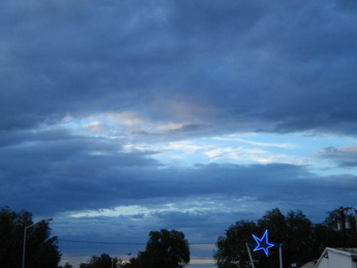 Camera phone picture of The Blue Star, Colorado Springs