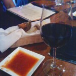 Wine and appetizers from Antica Roma Trattoria, Boulder, CO