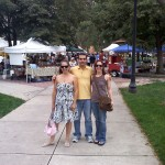 Me, david, and Sarah at the Acacia Park Farmer's Market, downtown Colorado Springs