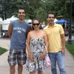 Chris, me, and David at the Acacia Park Farmer's Market, downtown Colorado Springs
