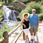 Mom and dad at Helen Hunt Falls, Colorado Springs