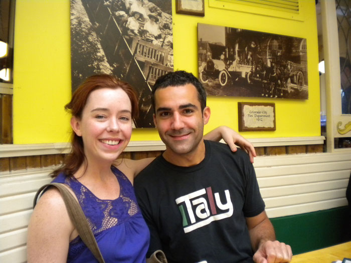 Sarah and David at The Omlette Parlor, Colorado Springs