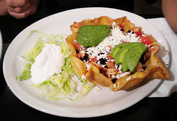 Tostada from The Flow Of Mexico, downtown Colorado Springs