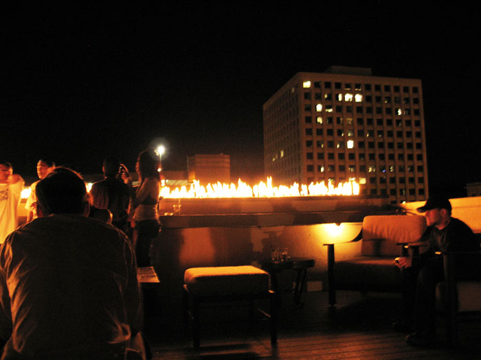 The bar with fire on the roof