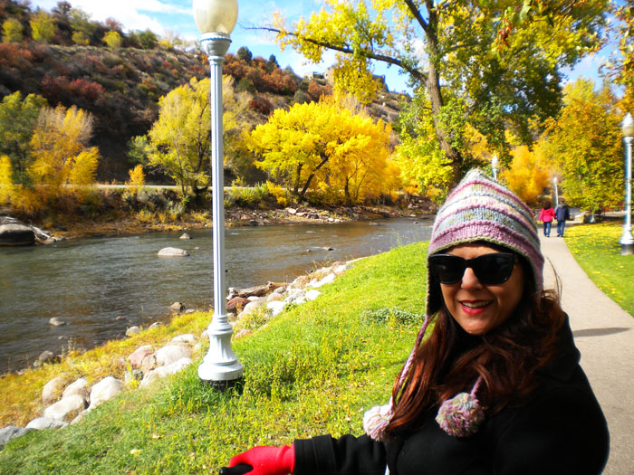 A bike ride along The Animas River, downtown Durango, CO