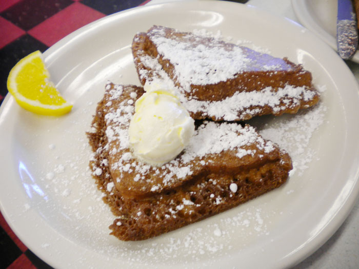 Deep fried French toast at Oscar's Cafe, Durango, CO