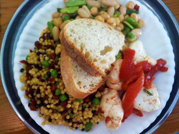 CousCous salad, caprese salad, and bean and tuna salad. Deluca's Deli ...