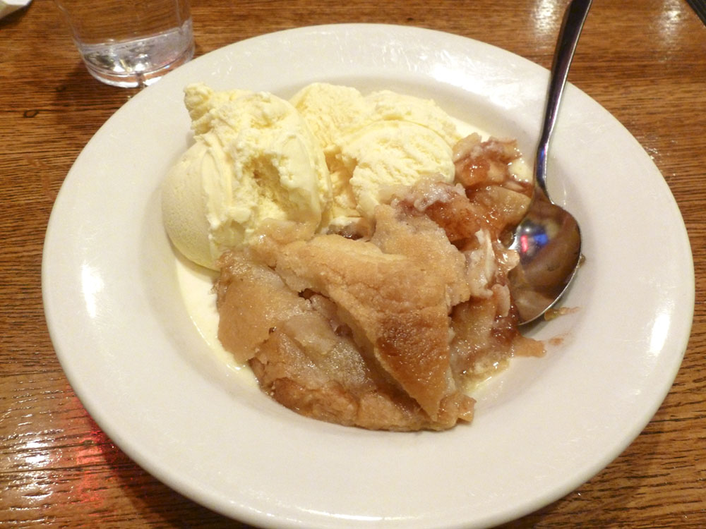 Awesome apple pie a la mode at Third Coast Cafe and Wine Bar in Chicago