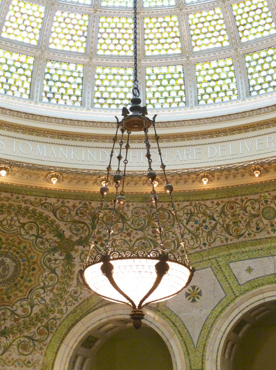 The Tiffany ceiling at The Chicago Cultural Center