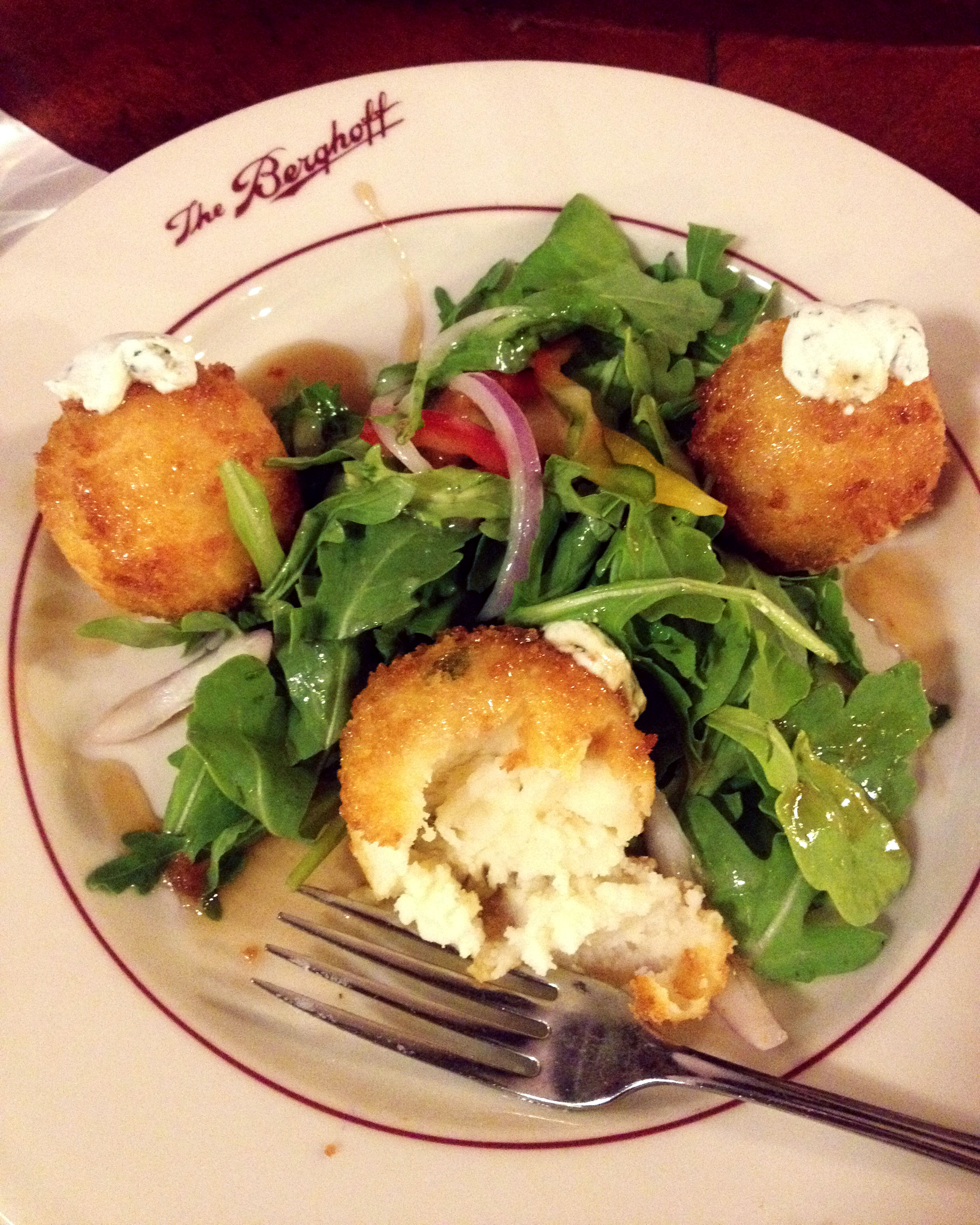 potato croquettes from berghoff in chicago