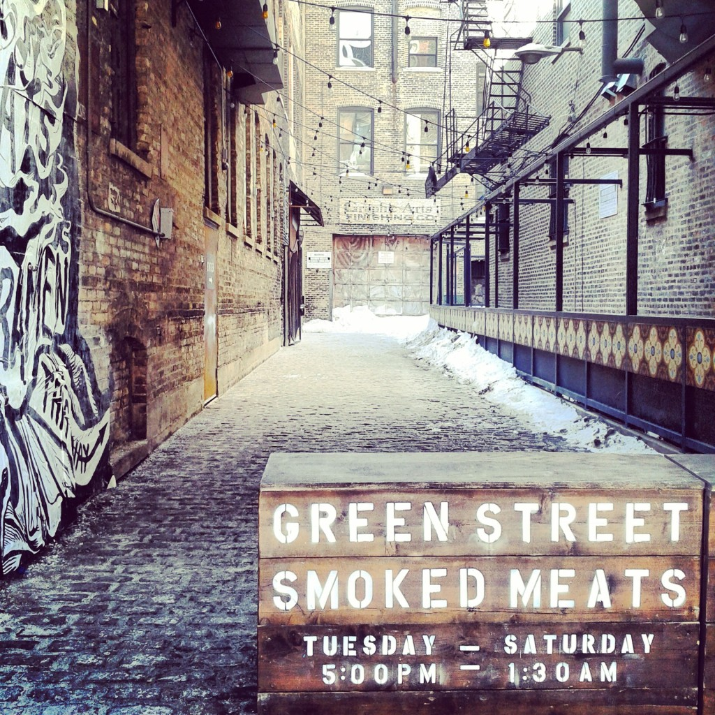 Green Street Smoked Meats in Winter