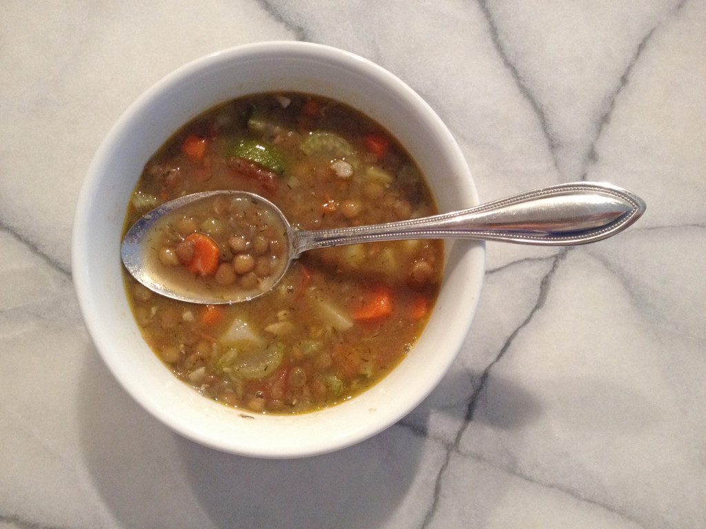 easy and delicious lentil soup